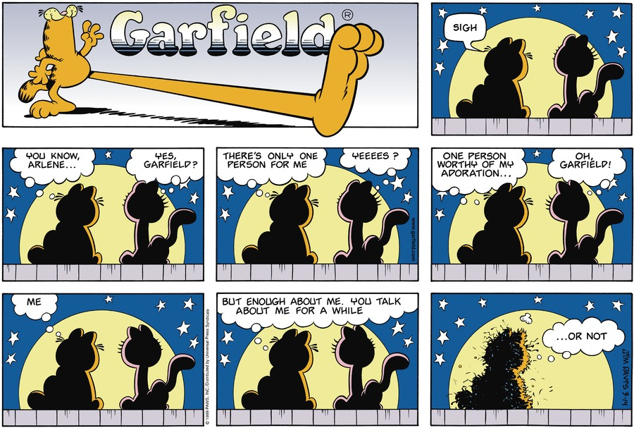 Garfield Comic Strip for March 14, 1999