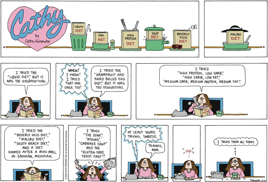Cathy by Cathy Guisewite for March 17, 2019