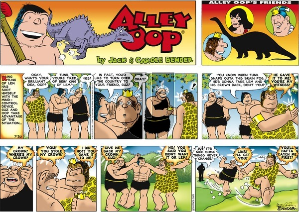 Alley Oop on Sunday July 30, 2017 Comic Strip