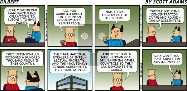 Dilbert on Sunday November 24, 2019 Comic Strip