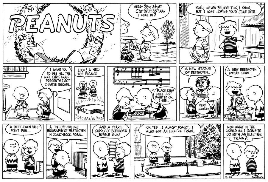 Peanuts for Dec 26, 1954 Comic Strip