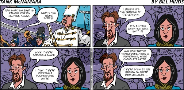 Tank McNamara on December 2, 2018 Comic Strip