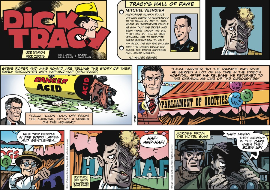 Dick Tracy Comic Strip for December 01, 2019