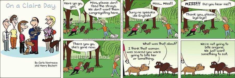 On A Claire Day for Jul 14, 2013 Comic Strip