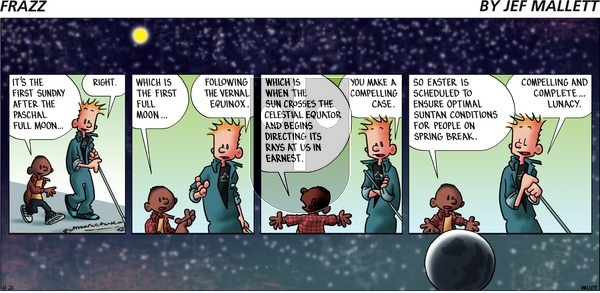 Frazz on Sunday April 21, 2019 Comic Strip