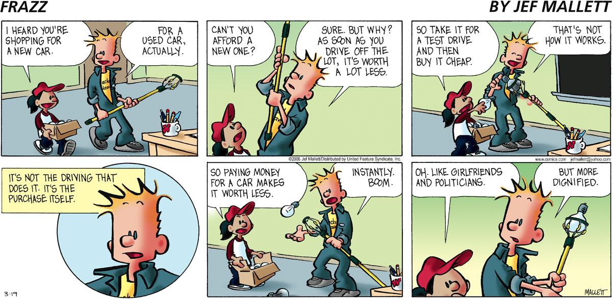 Frazz for Mar 19, 2006 Comic Strip