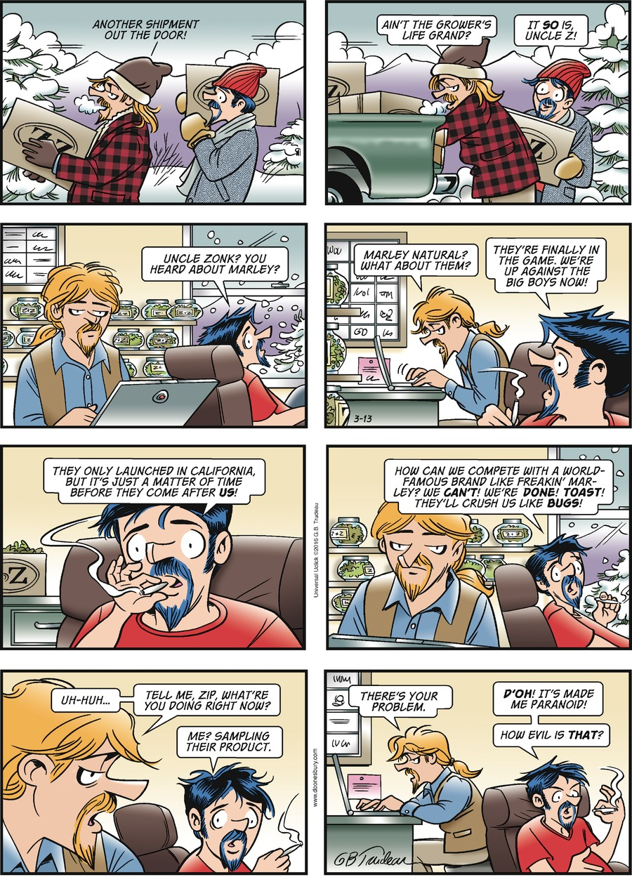 Doonesbury Comic Strip for March 13, 2016