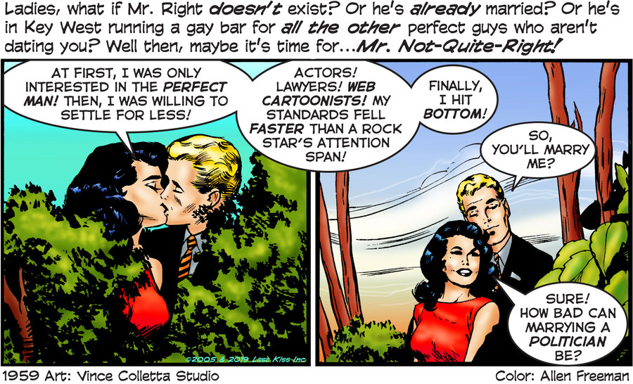 Last Kiss Comic Strip for October 11, 2019