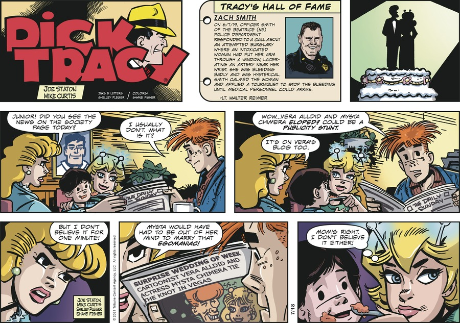 Dick Tracy Comic Strip for July 18, 2021
