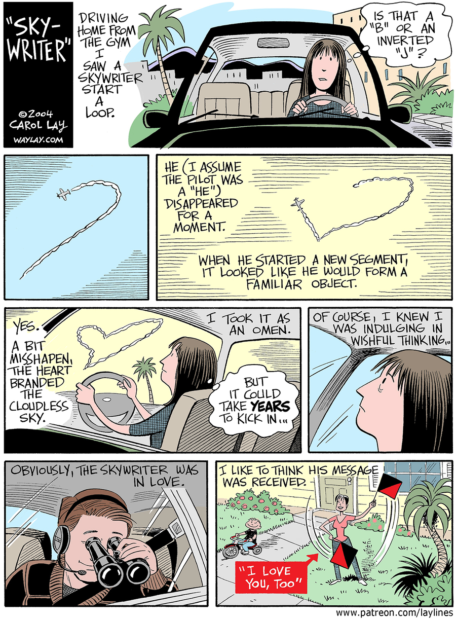 Lay Lines Comic Strip for February 14, 2016