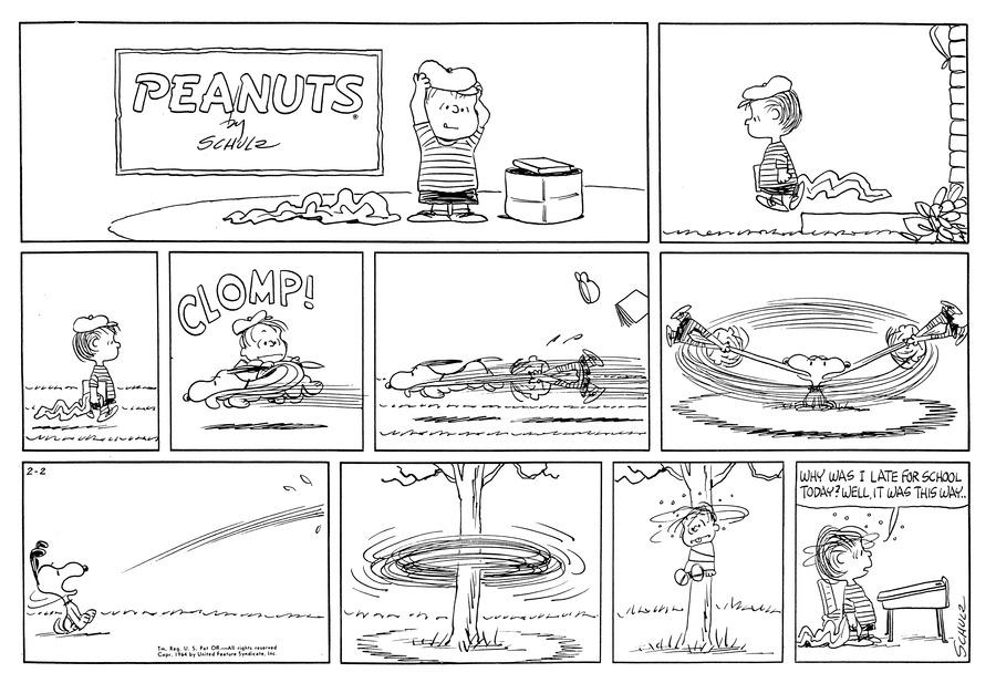 Peanuts Comic Strip for February 02, 1964