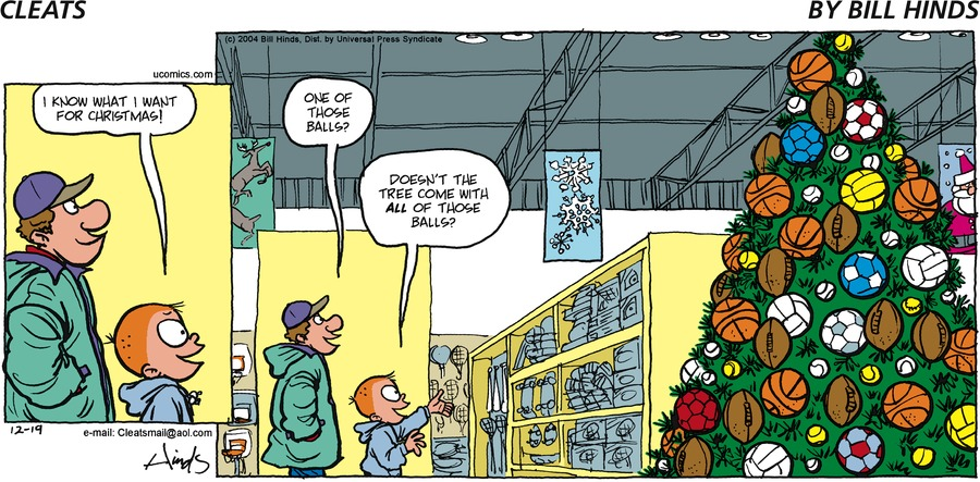 Cleats Comic Strip for December 19, 2004