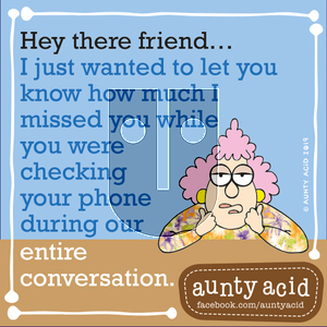 Aunty Acid on Wednesday September 18, 2019 Comic Strip
