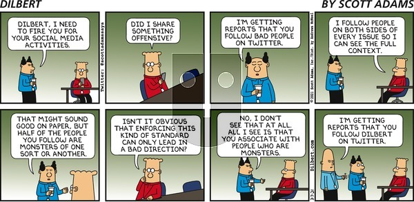 Dilbert on Sunday March 7, 2021 Comic Strip