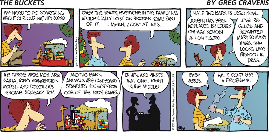 The Buckets Comic Strip for December 22, 2013