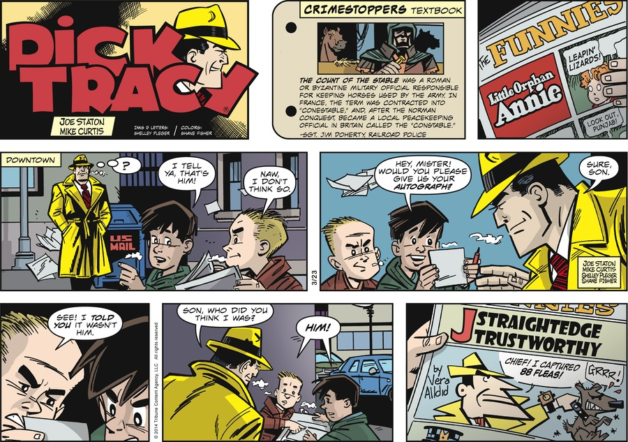 Dick Tracy Comic Strip for March 23, 2014