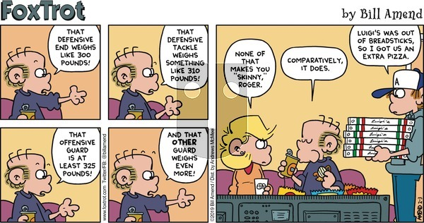 FoxTrot on Sunday February 3, 2019 Comic Strip