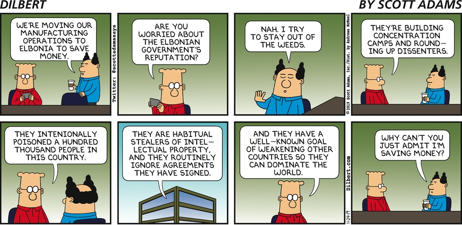 Manufacturing In Elbonia - Dilbert by Scott Adams