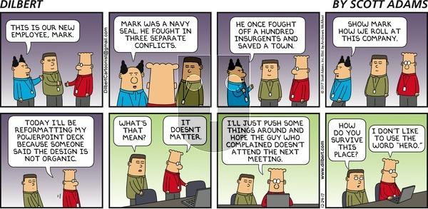 Dilbert on Sunday December 24, 2017 Comic Strip