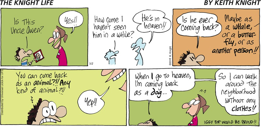 The Knight Life Comic Strip for March 02, 2014