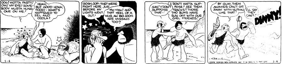 Alley Oop Comic Strip for January 04, 1939