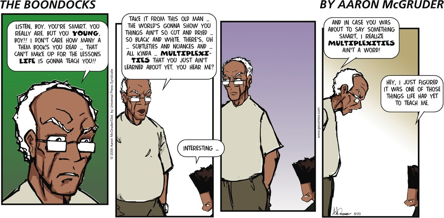 The Boondocks Comic Strip for August 20, 2006