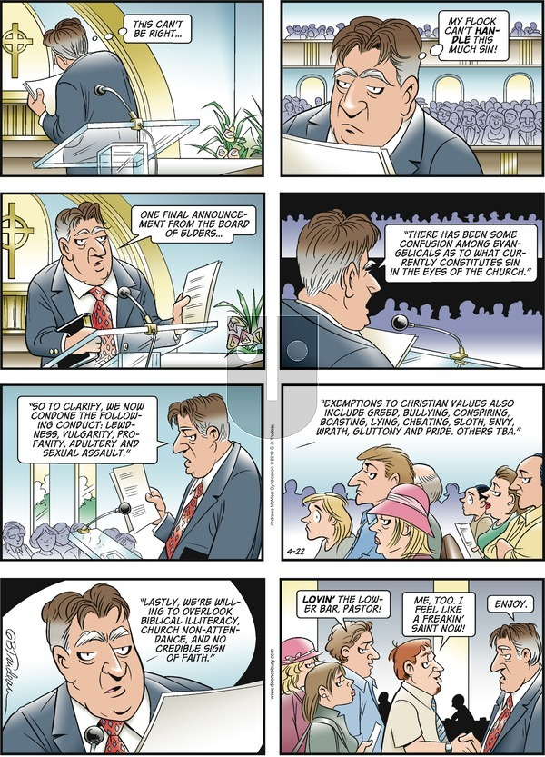 Doonesbury on Sunday April 22, 2018 Comic Strip