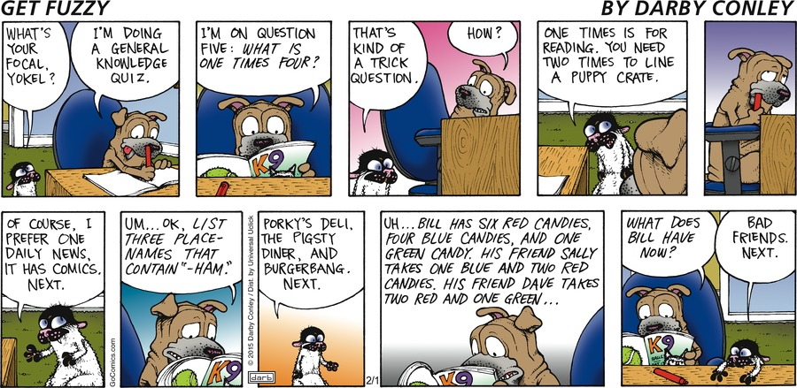 Get Fuzzy Comic Strip for February 01, 2015