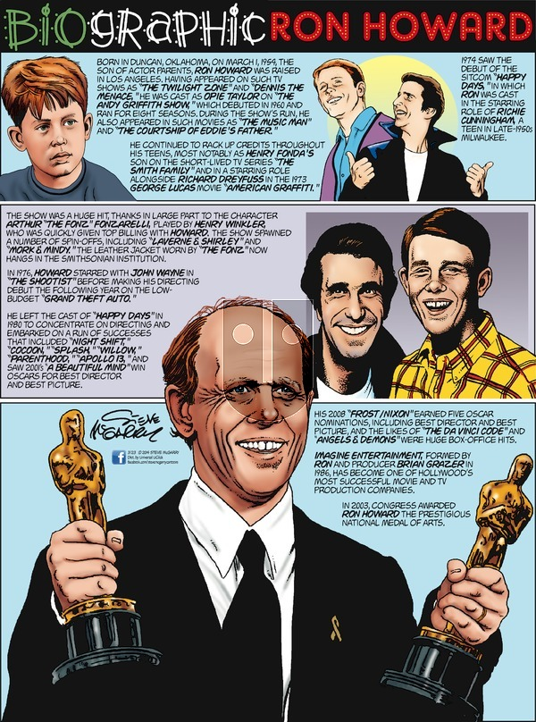 Biographic on Sunday March 23, 2014 Comic Strip