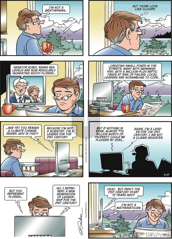 Doonesbury on Sunday March 27, 2016 Comic Strip