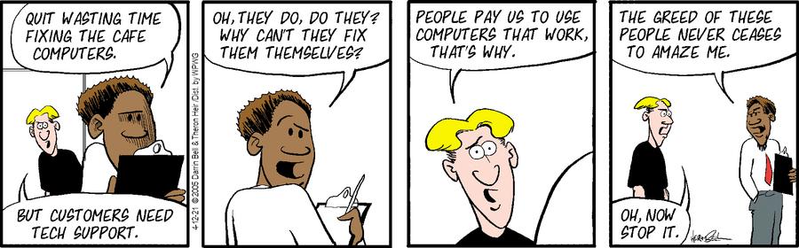 Rudy Park Comic Strip for April 12, 2021