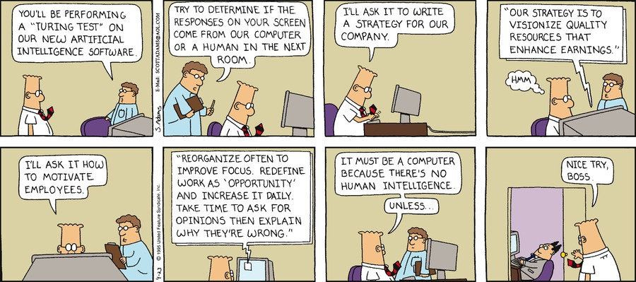 Dilbert Classics Comic Strip for March 24, 2019