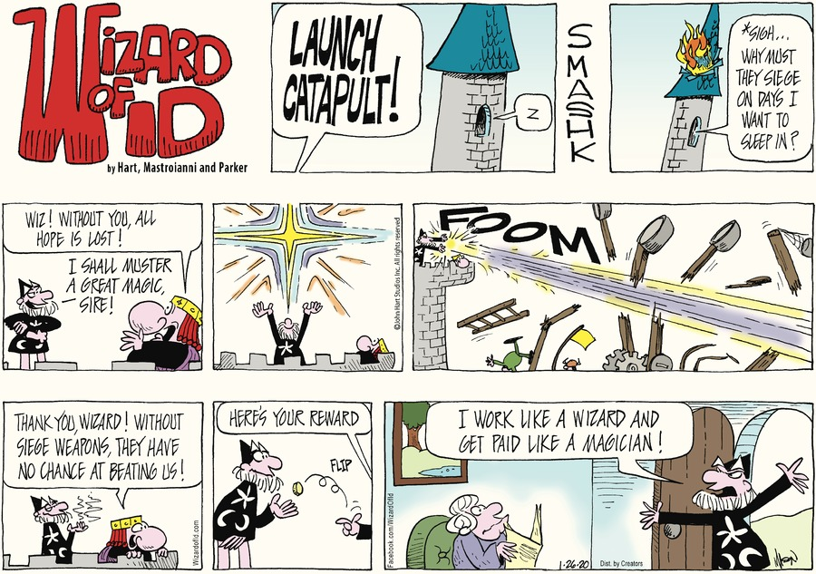 Wizard of Id Comic Strip for January 26, 2020