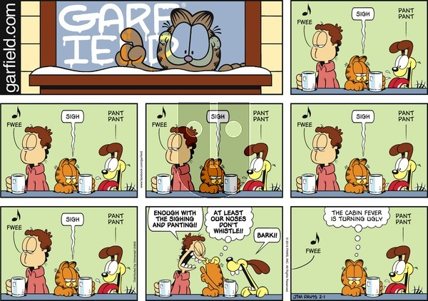 Garfield on Sunday February 1, 2015 Comic Strip