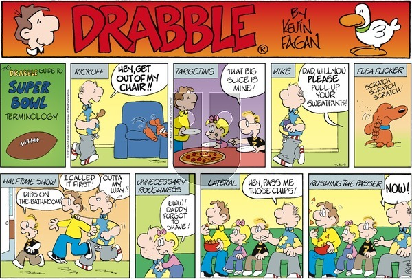 Drabble on Sunday February 3, 2019 Comic Strip