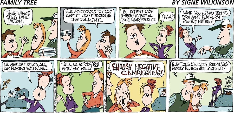 Family Tree Comic Strip for October 05, 2008