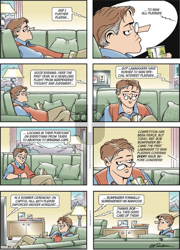 Doonesbury on Sunday April 1, 2012 Comic Strip