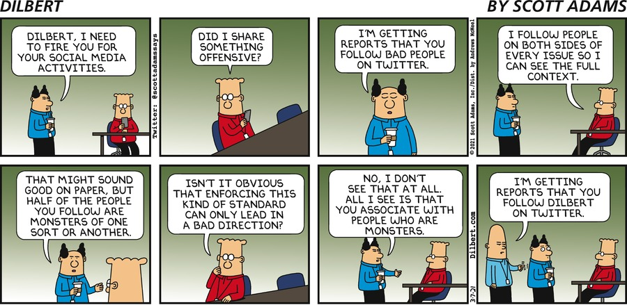 Fired For Social Media - Dilbert by Scott Adams
