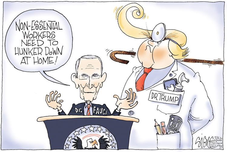 Signe Wilkinson Comic Strip for March 24, 2020