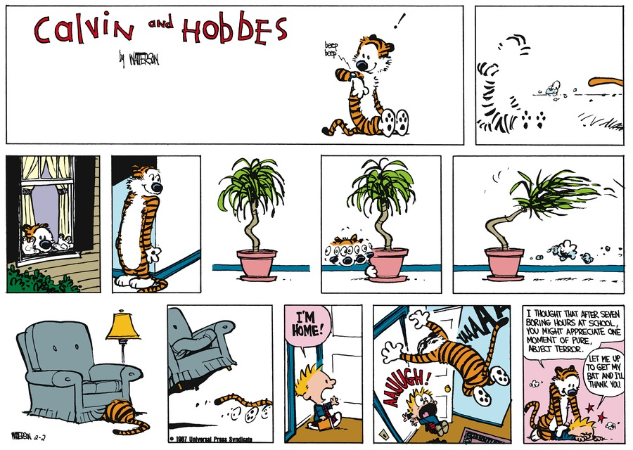 Calvin and Hobbes Comic Strip for March 08, 1987