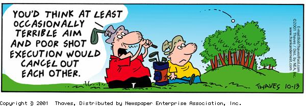 Frank and Ernest Comic Strip for October 13, 2001