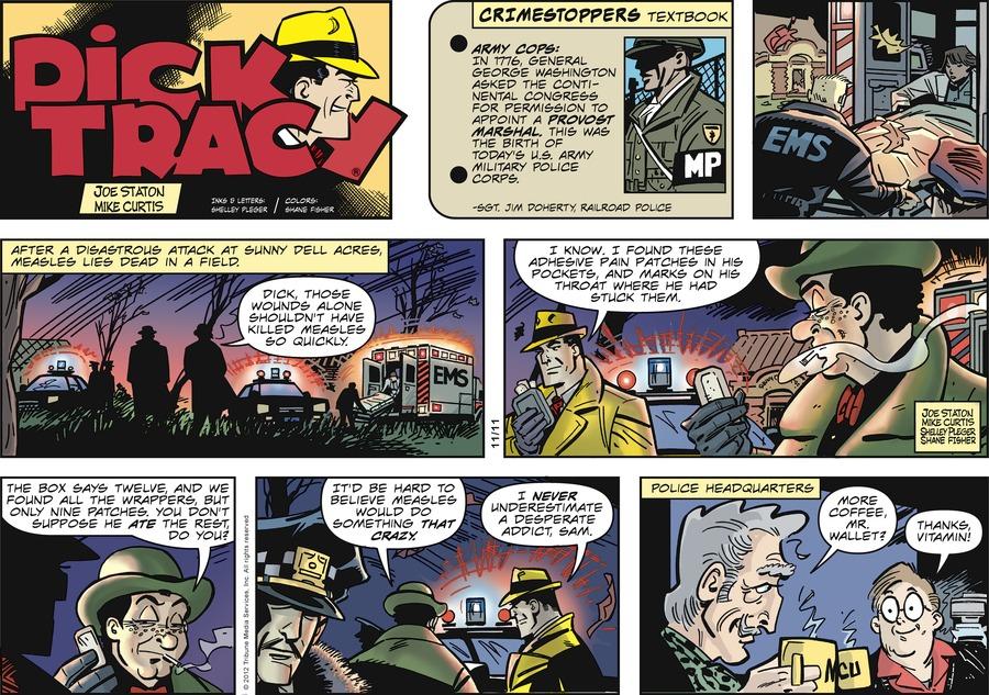Dick Tracy Comic Strip for November 11, 2012