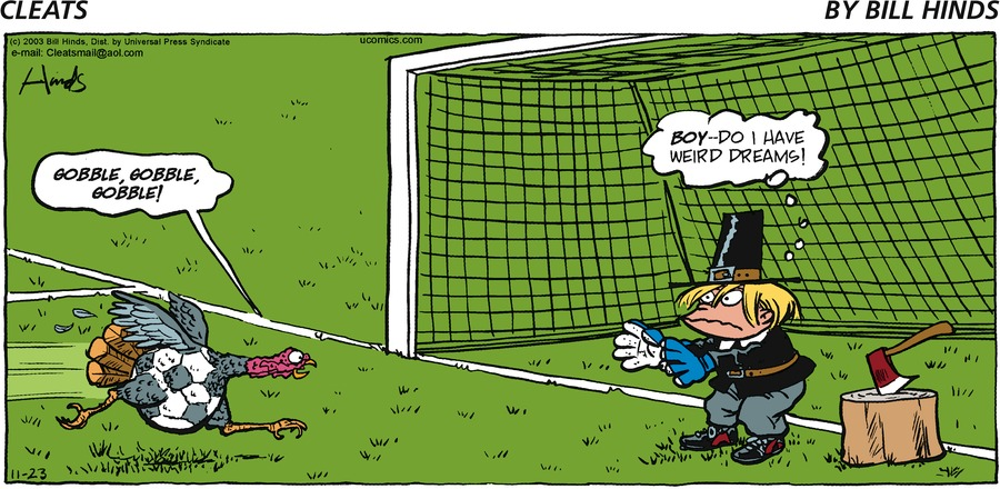 Cleats Comic Strip for November 23, 2003