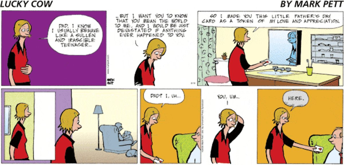 Lucky Cow Comic Strip for July 30, 2021