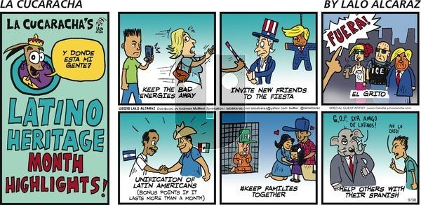 La Cucaracha on Sunday September 30, 2018 Comic Strip