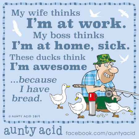 Aunty Acid Comic Strip for October 18, 2019