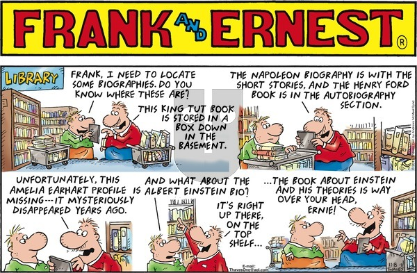 Frank and Ernest on Sunday November 8, 2020 Comic Strip