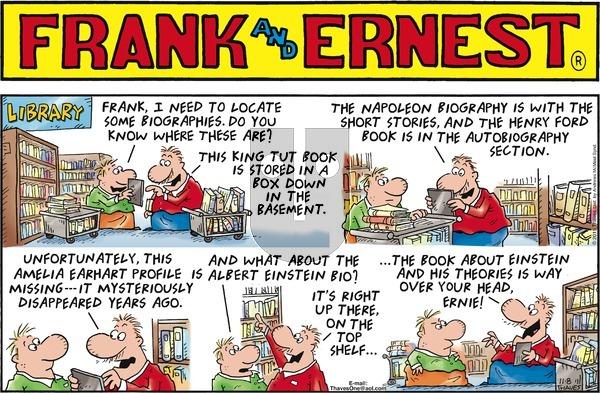 Frank and Ernest - Sunday November 8, 2020 Comic Strip