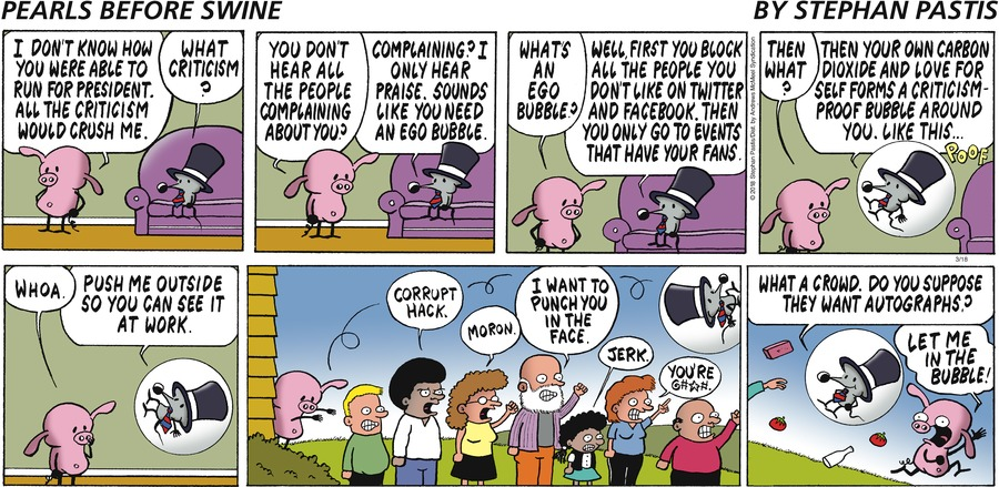 Pearls Before Swine Comic Strip for March 18, 2018