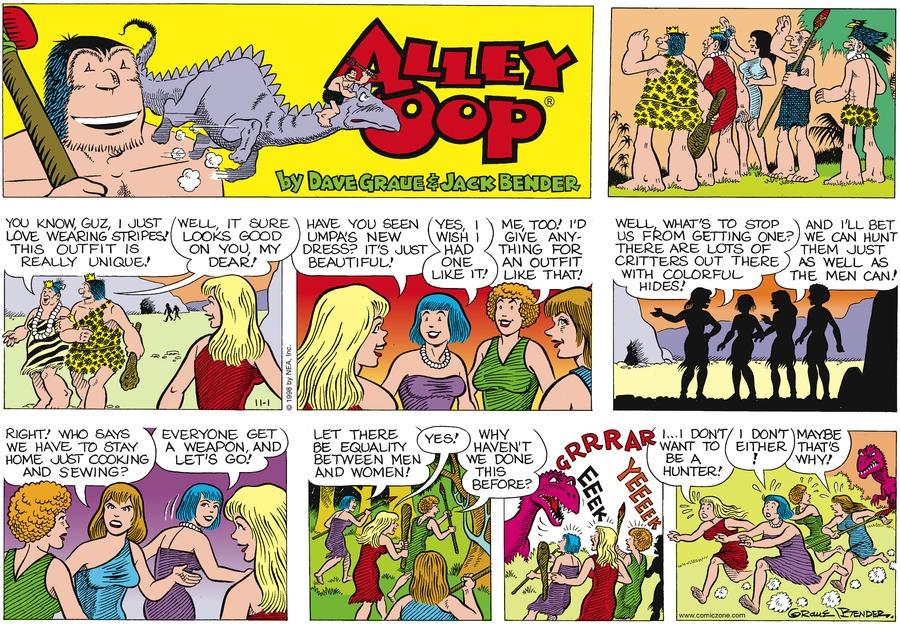 Alley Oop for Nov 1, 1998 Comic Strip